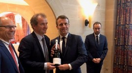 Emmanuel Macron received a magnum of 1977 de Saint Gall Champagne, a nod to his year of birth.