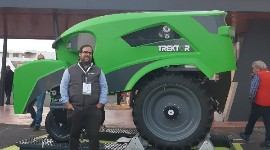 """We come as a complement, not as a replacement for the tractor"", explained Fabien Arignon on November 26 at Sitevi."