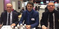 Thierry Mothe, secrétaire général des Vif, Thomas Montagne, président et Jean-Jacques Jarjanette, directeur général