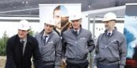 Le président d'Argo France et actionnaire d'Argo Simeone Morra « pose la première pierre » de la nouvelle filiale française.