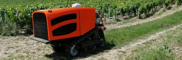 Le robot chenillard autonome Céol dans les vignes dès le printemps