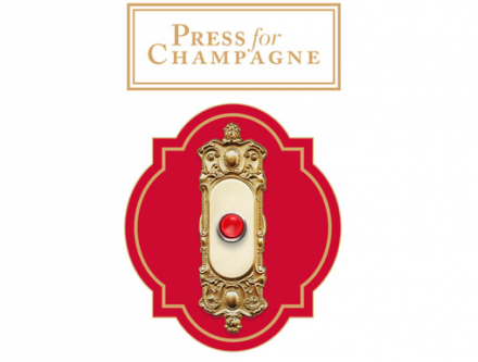 Champagne: in the event of an emergency, press the button