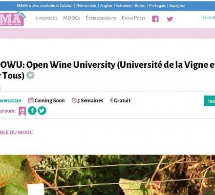L'Université de Bourgogne crée la première formation en ligne viti-vinicole