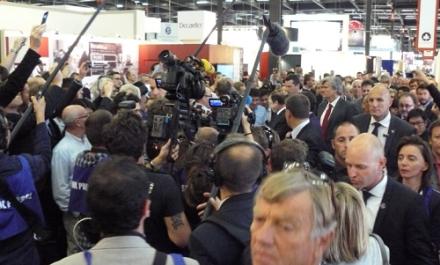 Photorama Vinexpo : l'inauguration présidentielle comme si vous y étiez (la cohue en moins)
