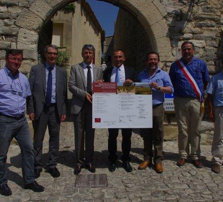 La «Charte paysagère et environnementale» des AOC Côtes du Rhône officiellement lancée