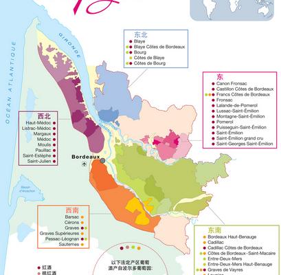 Mandarin : les transcriptions officielles des vins de Bordeaux, ou 波尔多