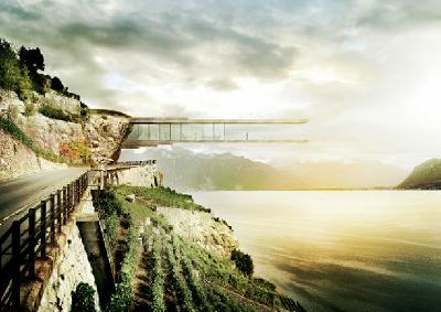 Suisse : l'idée d'un musée du vin suspendu à la falaise de Lavaux