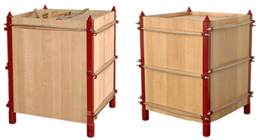 Wood-ageing: wine barriques go cubic