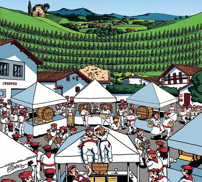 Irouléguy : fête et visite du vignoble en terrasse font taire ''les critiques faciles sur les prix''