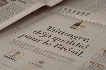 Coupes du Monde et de Champagne : Taittinger, sponsor officiel partout, sauf en France