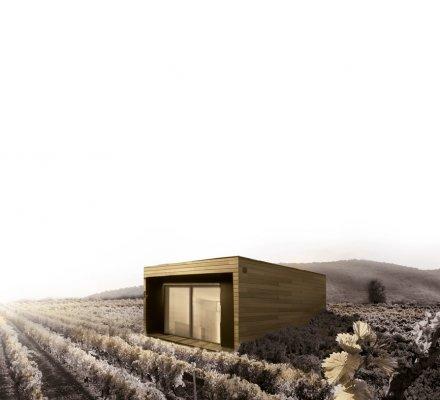 Insolite : installer un cube dans les vignes