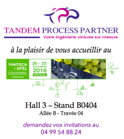 La co-conception by Tandem Process Partner : retrouvez-nous sur Vinitech !