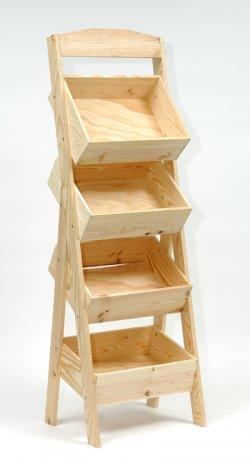 vinolem pr sentoir bois 4 bacs. Black Bedroom Furniture Sets. Home Design Ideas
